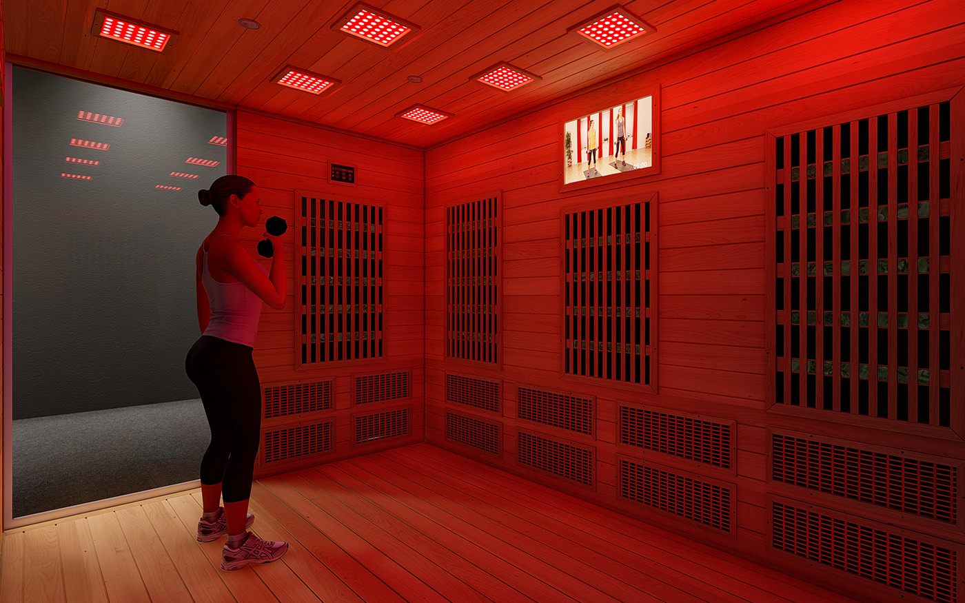 Termogenesi a infrarossi per tutto il corpo Red Fit Room